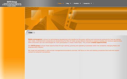 Screenshot of Home Page dotd-group.com - DOTD Group - Home - captured Sept. 30, 2014