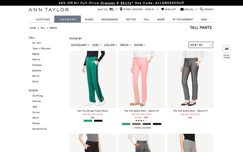 Tall Women's Pants - Dress Pants, Ankle Pants & More | ANN TAYLOR