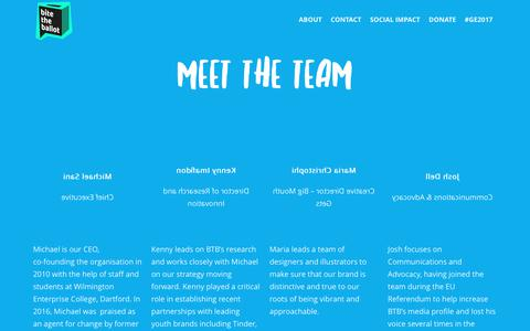 Screenshot of Team Page bitetheballot.co.uk - TEAM - Bite the Ballot - captured June 1, 2017