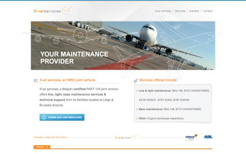 Screenshot of Home Page xairservices.com - X-air services - captured July 25, 2018