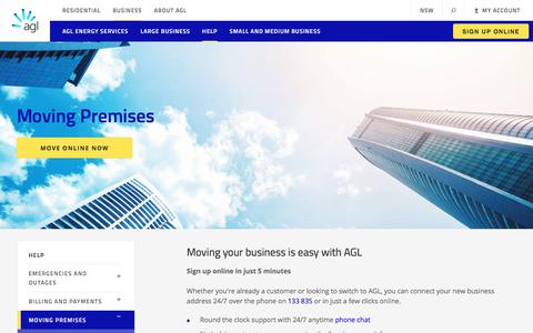 Moving Premises | AGL