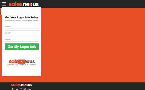 Screenshot of FAQ Page salesnexus.com - SalesNexus Free Trial - captured Nov. 14, 2016
