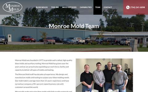 Screenshot of Team Page monroemold.com - Meet Monroe Mold Team - Blow Molds Manufacturer - captured Sept. 20, 2018