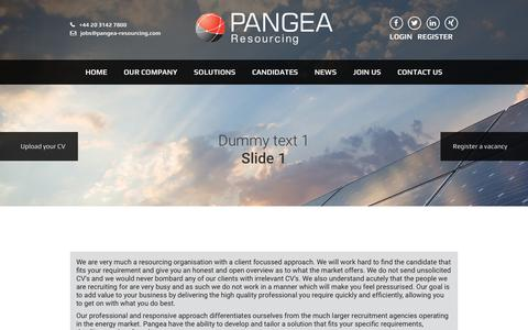 Screenshot of Services Page pangea-resourcing.com - Solutions - Pangea Resourcing - captured July 10, 2016