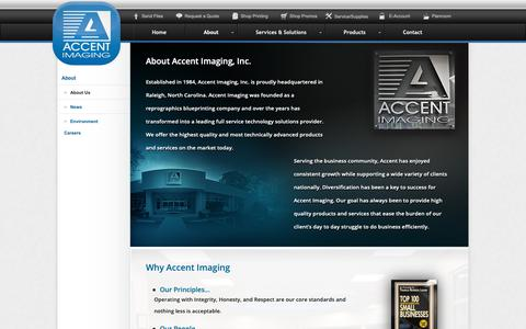 Screenshot of About Page accentimaging.com - About Us   Accent Imaging   Raleigh NC - captured Oct. 2, 2018
