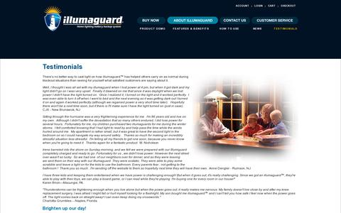 Screenshot of Testimonials Page electrikusinc.com - Testimonials - Home lighting battery backup system - captured July 19, 2014