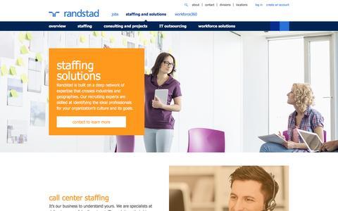 Staffing Solutions | Randstad USA