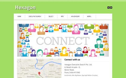Screenshot of Contact Page hexagonsearch.com - Hexagon - Contact Us - Hexagon - captured Oct. 2, 2014
