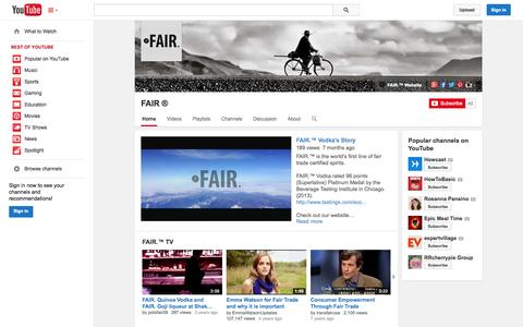 Screenshot of YouTube Page youtube.com - FAIR ®  - YouTube - captured Oct. 23, 2014