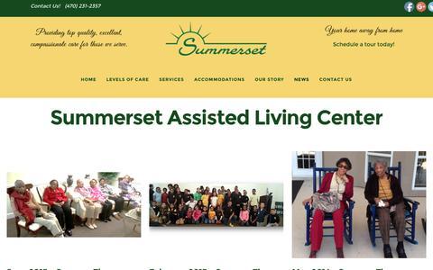 Screenshot of Press Page summersetalc.com - Summerset Assisted Living Center - captured Dec. 2, 2016
