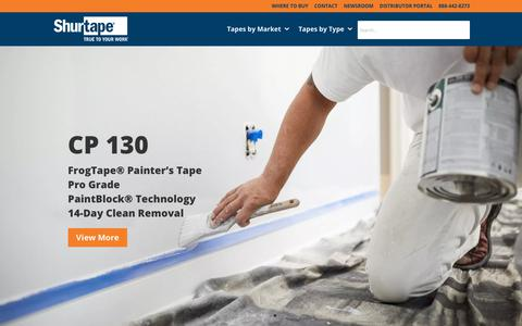 Screenshot of Home Page shurtape.com - Shurtape® | HVAC Tape, Duct Tape, Packaging Tape & More - captured July 17, 2019