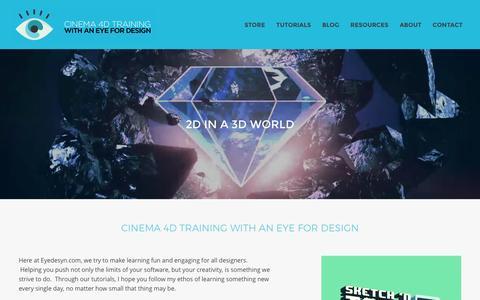 Screenshot of Home Page eyedesyn.com - EYEDESYN - captured Dec. 15, 2015
