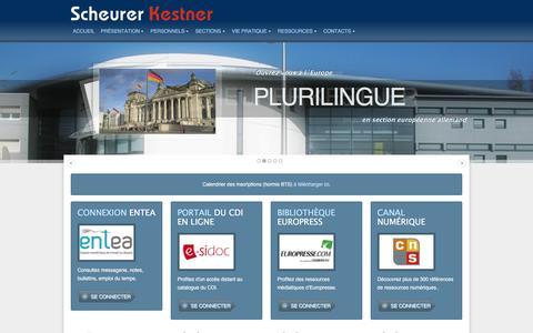 Screenshot of Home Page lyceescheurerkestner.fr - Lycée Scheurer Kestner   Thann 68800 - captured June 14, 2016