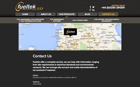 Screenshot of Contact Page fueltek.co.uk - Contact Us | Fueltek - captured Sept. 30, 2014
