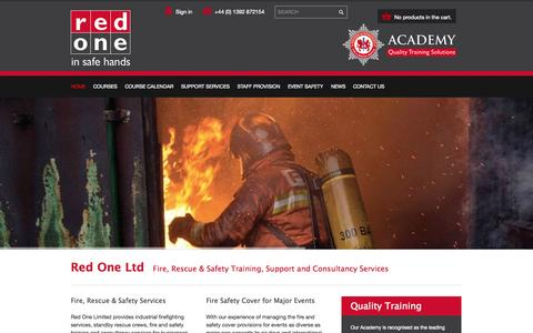 Screenshot of Home Page red1ltd.com - Red One Ltd - Red One - captured Oct. 4, 2014