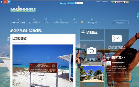 Screenshot of Home Page los-roques.org - Los Roques | Los Roques ☀️ - captured May 22, 2017
