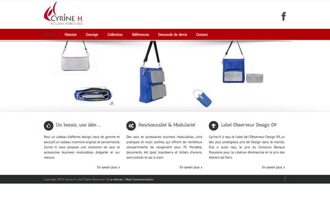 Screenshot of Home Page cyrineh.com - Cyrine H Creative Marketing & Intelligent Business Bags - captured Oct. 3, 2014
