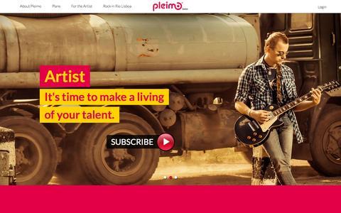 Screenshot of Home Page pleimo.com - Pleimo - #pttp! - captured Oct. 7, 2015