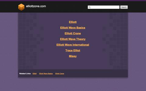 Screenshot of Home Page Site Map Page elliottzone.com - Web hosting provider - Bluehost.com - domain hosting - PHP Hosting - cheap web hosting - Frontpage Hosting E-Commerce Web Hosting Bluehost - captured June 29, 2018