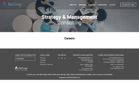 Screenshot of Jobs Page rivigroup.com - Careers - RiVi Group - captured Oct. 22, 2017