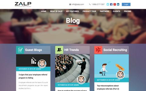 Screenshot of Blog zalp.com - zalp | Blog - captured Dec. 4, 2015