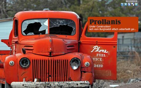 Screenshot of Press Page prollanis.com - Prollanis - captured Sept. 30, 2014