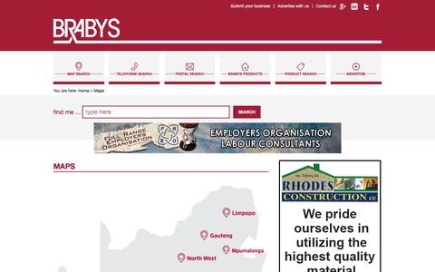 Screenshot of Maps & Directions Page brabys.com - Maps - Brabys - captured June 20, 2017