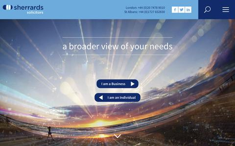 Screenshot of Home Page sherrards.com - Sherrards Solicitors | Leading Law Firm in St Albans & London - captured Nov. 15, 2017