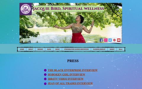Screenshot of Press Page jacquiebirdspiritualwellness.com - SilkWire Jewelry Press & Interviews - captured Nov. 6, 2018