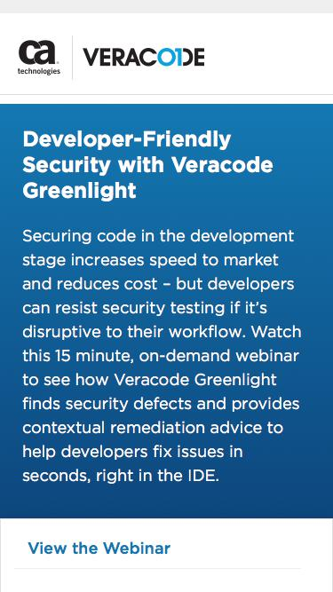 Developer-Friendly Security with Veracode Greenlight   Veracode