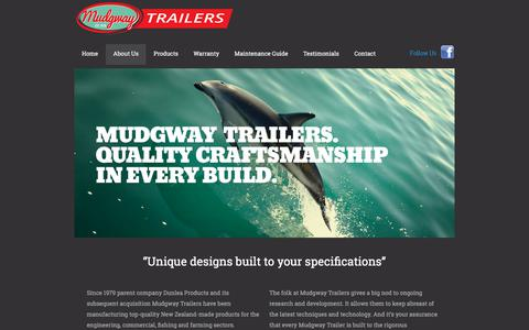 Screenshot of About Page mudgway.co.nz - Mudgway Trailers - captured Nov. 12, 2017
