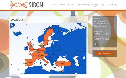 Screenshot of Locations Page sironeurope.com - Locations - Siron BV - captured Nov. 16, 2016