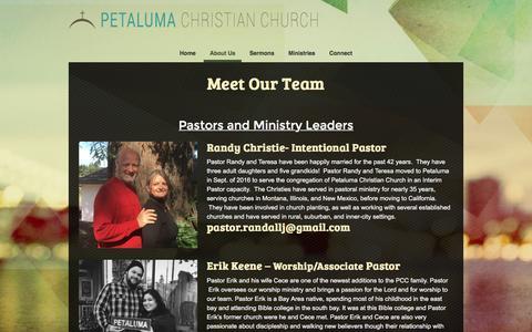 Screenshot of Team Page petalumachristian.org - Team «  Petaluma Christian Church - captured Nov. 5, 2016