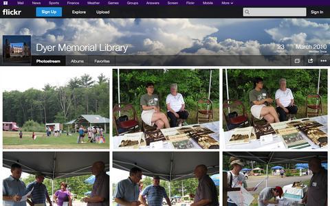 Screenshot of Flickr Page flickr.com - Flickr: Dyer Memorial Library's Photostream - captured Oct. 23, 2014