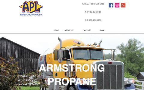 Screenshot of Home Page armstrongpropane.ca - Armstrong Propane | Propane Deleivery | Caledon - captured Feb. 12, 2018