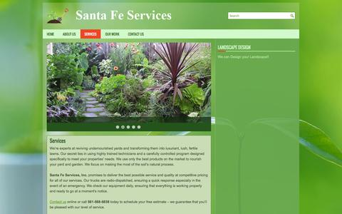 Screenshot of Services Page santafeservicesinc.com - Services | Santa Fe Services Inc - captured Sept. 30, 2014