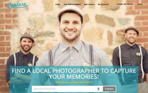 Screenshot of Home Page capturephotographers.com - LOCAL PHOTOGRAPHER READY TO CAPTURE YOUR MEMORIES! | CAPTURE - captured July 18, 2015