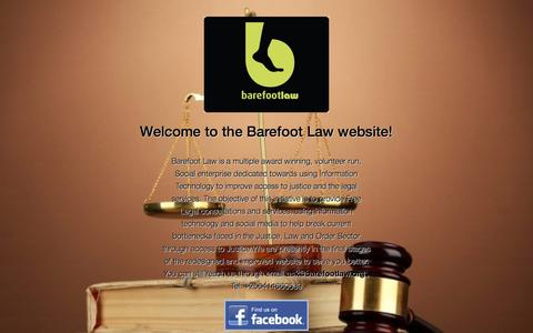 Screenshot of Press Page barefootlaw.org - Barefoot Law in the Media | Barefoot Law - captured Sept. 30, 2014