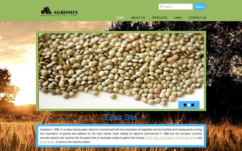 Screenshot of Home Page agromin.com.au - agromin   Wheat export sydney, Wheat export Australia, lentil export .lentil export Sydney Australia - captured Oct. 4, 2014