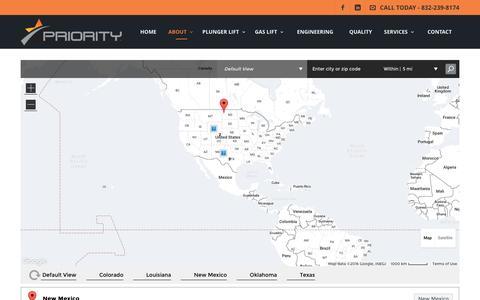 Screenshot of Locations Page priorityenergyllc.com - Locations | Priority Energy - captured Nov. 11, 2016