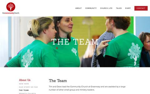 Screenshot of Team Page thecommunitychurch.net - The Team — The Community Church - captured May 14, 2018