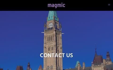 Screenshot of Contact Page magmic.com - Contact Us - Magmic - captured July 27, 2018