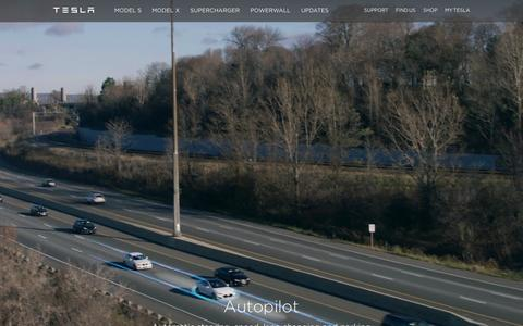 Screenshot of Home Page teslamotors.com - Tesla Motors | Premium Electric Vehicles - captured Feb. 21, 2016
