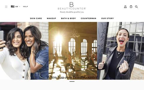 Screenshot of Signup Page beautycounter.com - Become A Consultant | Beautycounter - captured March 19, 2019
