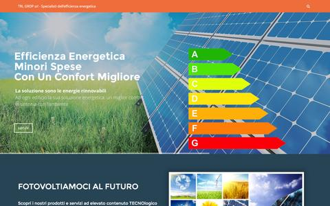 Screenshot of Home Page trlgrop.com - TRL GROP Srl - Specialisti dell'efficienza energetica - captured Feb. 27, 2016