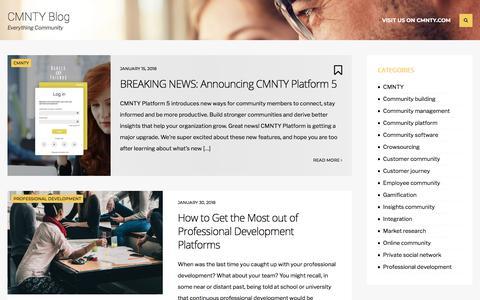 CMNTY Blog - Everything Community