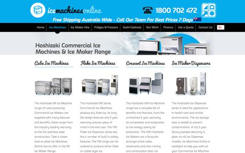 Screenshot of Products Page icemachinesonline.com.au - Ice Maker Range | Hoshizaki Ice Machines | Commercial Ice Machines - captured Oct. 14, 2017