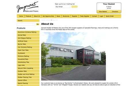 Screenshot of About Page jaymart.co.uk - About Jaymart Rubber and Plastics Ltd - Jaymart Rubber & Plastics Ltd - captured Oct. 13, 2018