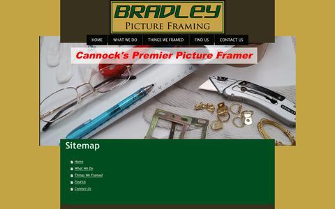 Screenshot of Site Map Page bradley-framing.co.uk - Bradley Framing - Home - captured Nov. 6, 2018