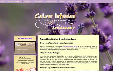 Screenshot of Pricing Page colourinfusion.ca - Calgary   Live Wordpress Dashboard Training   Social Media   Freelance Website Designer - captured July 15, 2016